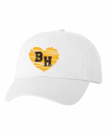 Cap - white with heart logo ($12)