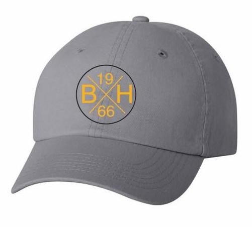Cap - gray with round logo ($12)