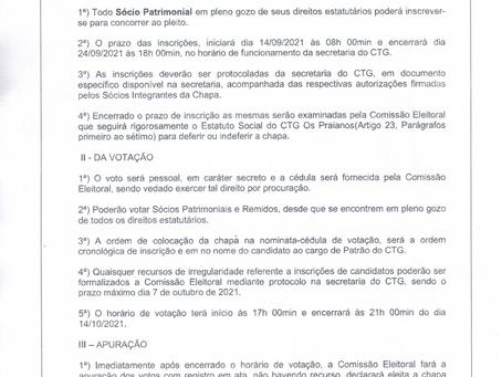 COMISSÃO ELEITORAL - CIRCULAR NÚMERO 01