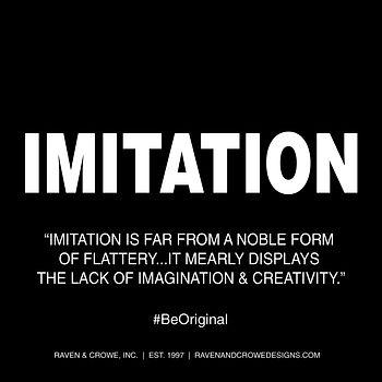 Imitation Quote Be Original