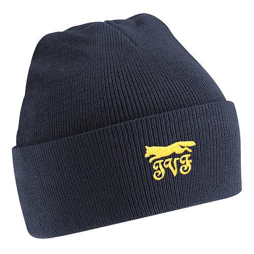 Navy Woolen Beanie Hat