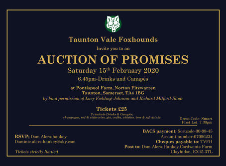 Auction of Promises Saturday 15th November