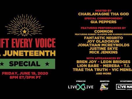 "Juneteenth Pop Up Show: ""Lift Every Voice"" Tonight!"