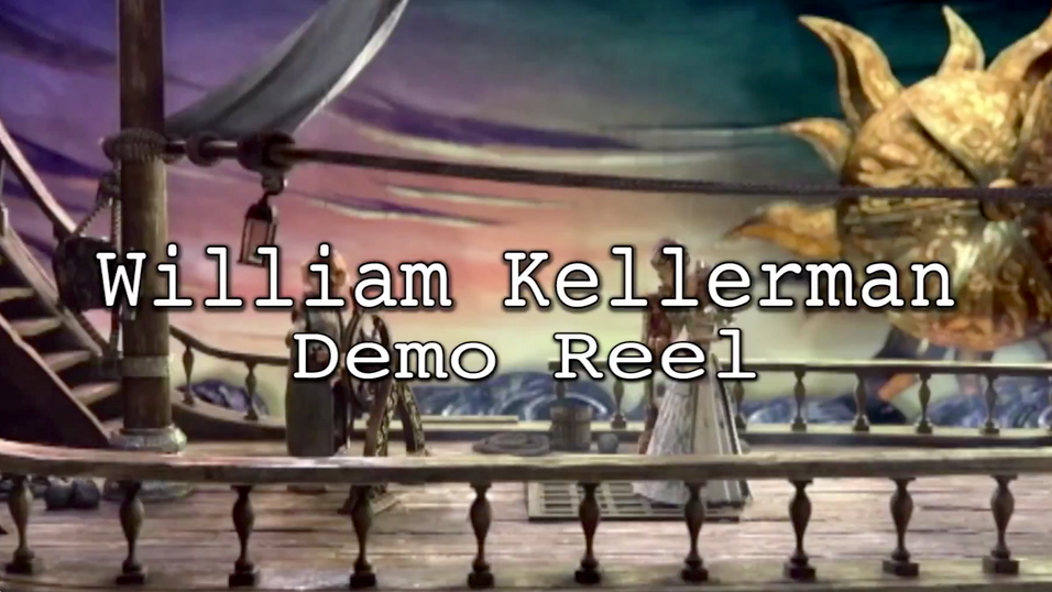 William Kellerman - Demo Reel  Running Time: 3:00 min July 2015  This is my Audio Demo Reel of a combination of projects I have worked on while attending the Vancouver Film School's Sound Design for Visual Media program.   FOR FULL VIDEOS, SEE FOLLOWING