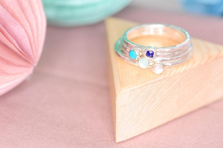Tiny Precious Stacking Ring
