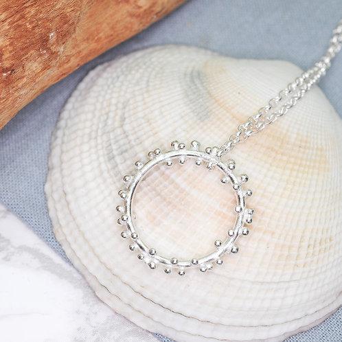 Silver Bubbles Halo Necklace