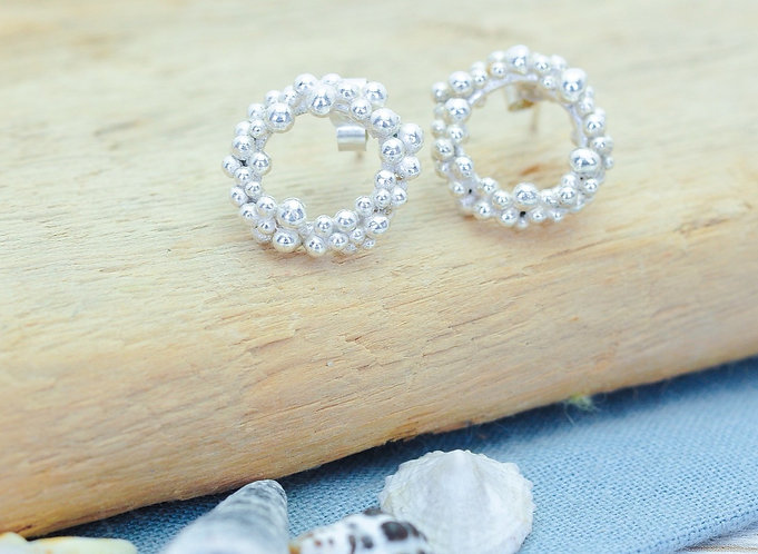 Seafoam Stud Earrings
