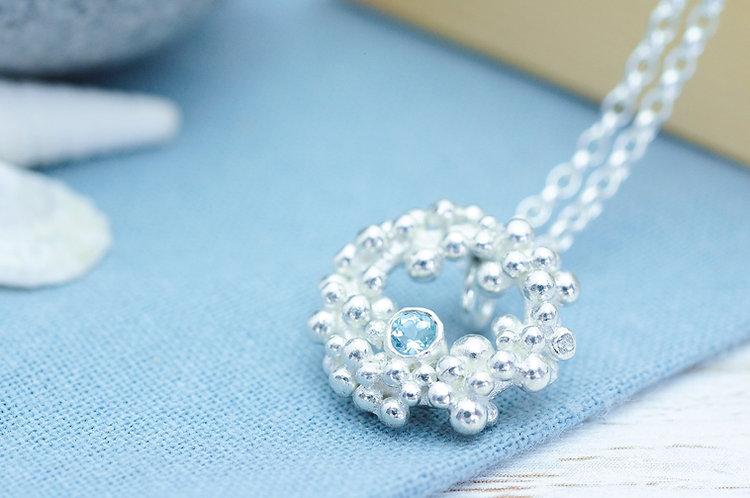 Seafoam Gemstone Necklace