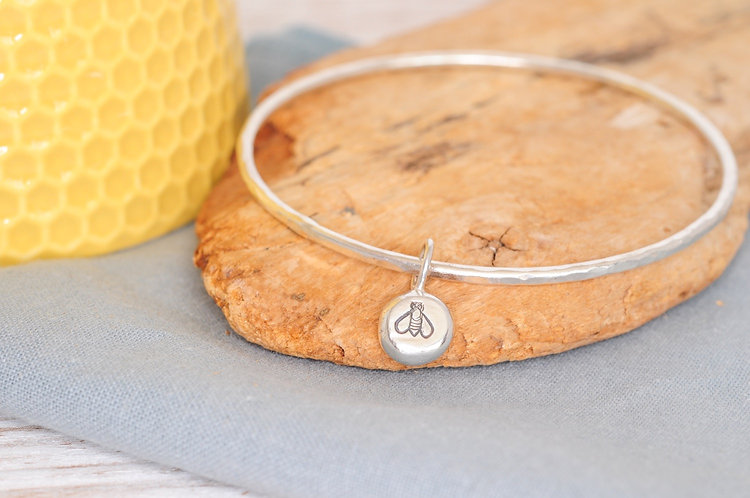 Silver Nugget Bangle