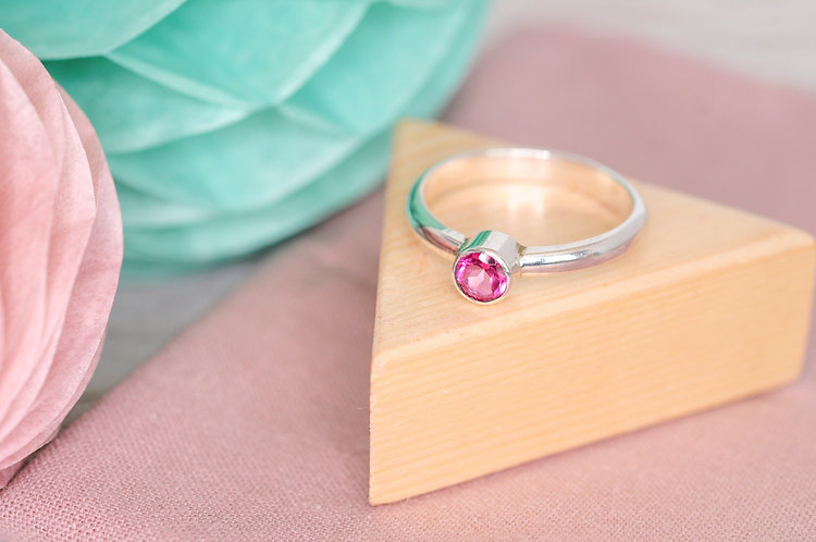 5mm Gemstone Solitaire Ring