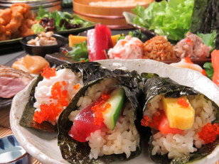 【魚天】新・手巻き寿司宴会スタート🍣