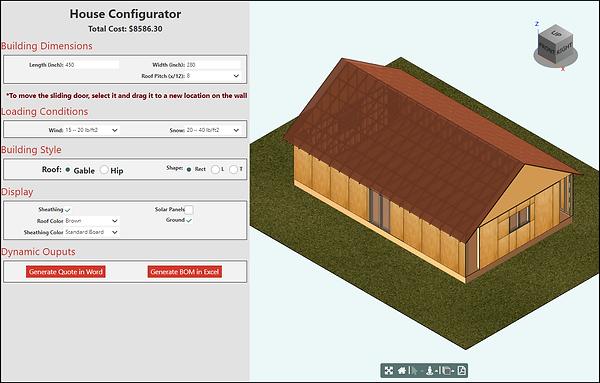 House Configurator test drive, driven by Knowledge Bridge