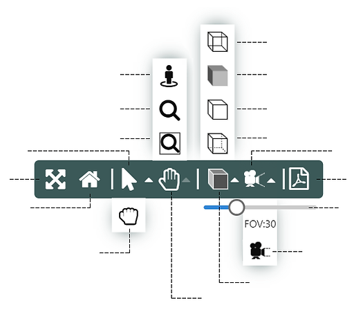 Knowledge Bridge provides a rich set of controls for interactive visual configuration.