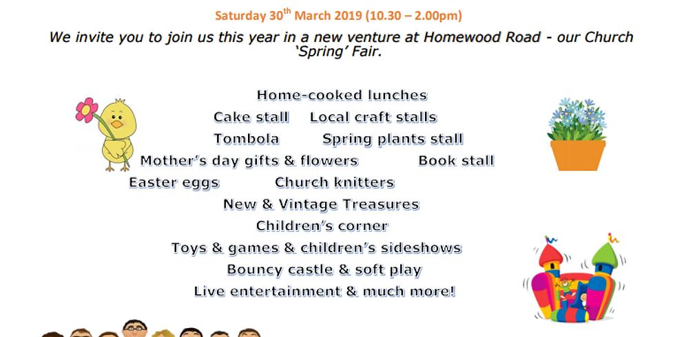 KJF to entertain at the Spring Fair, Homewood Road U.R.Ch. St Albans AL1 4BH