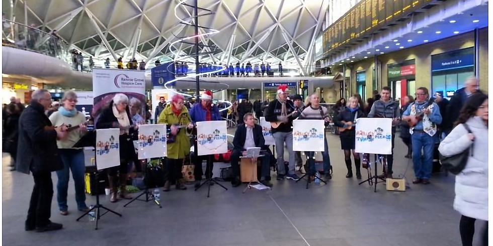 Busk @ Kings Cross Station for Rennie Grove Hospice Care