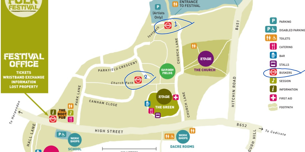 KJF Busk @ Kimpton Folk Festival - See Map for Set 1: 10:45-11:30am & Set 2: 1-1:45pm