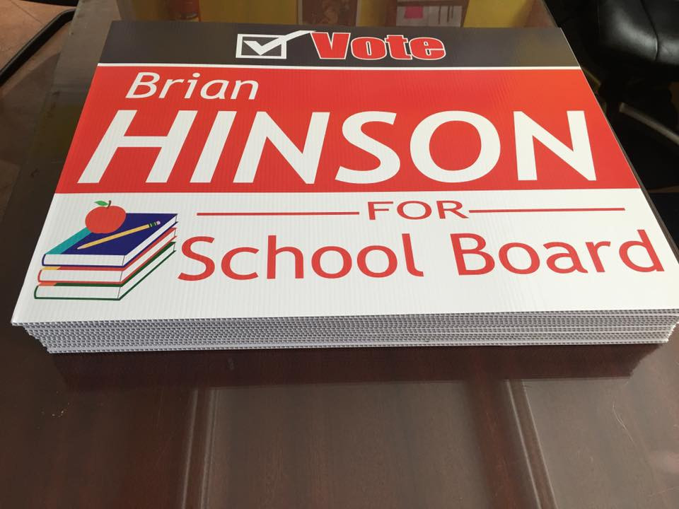 Hinson Yard Sign