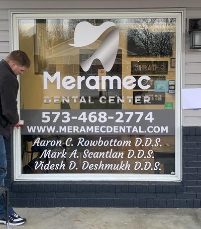 Meramec Dental Window Graphics