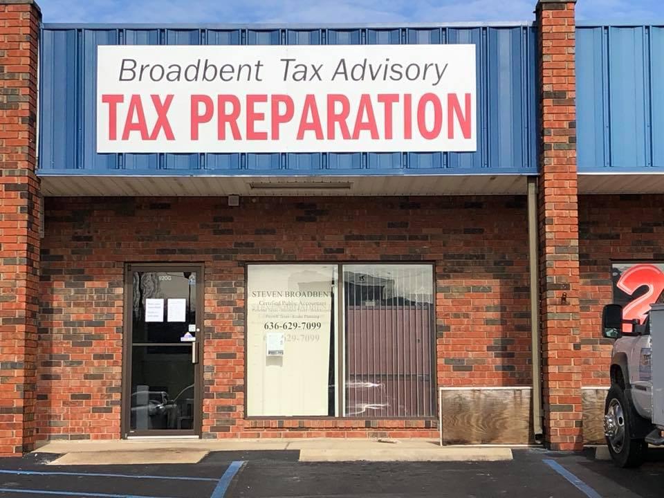 Broadbent Tax Building Sign