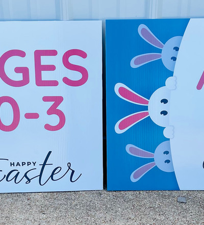 Easter Event Directional Signs