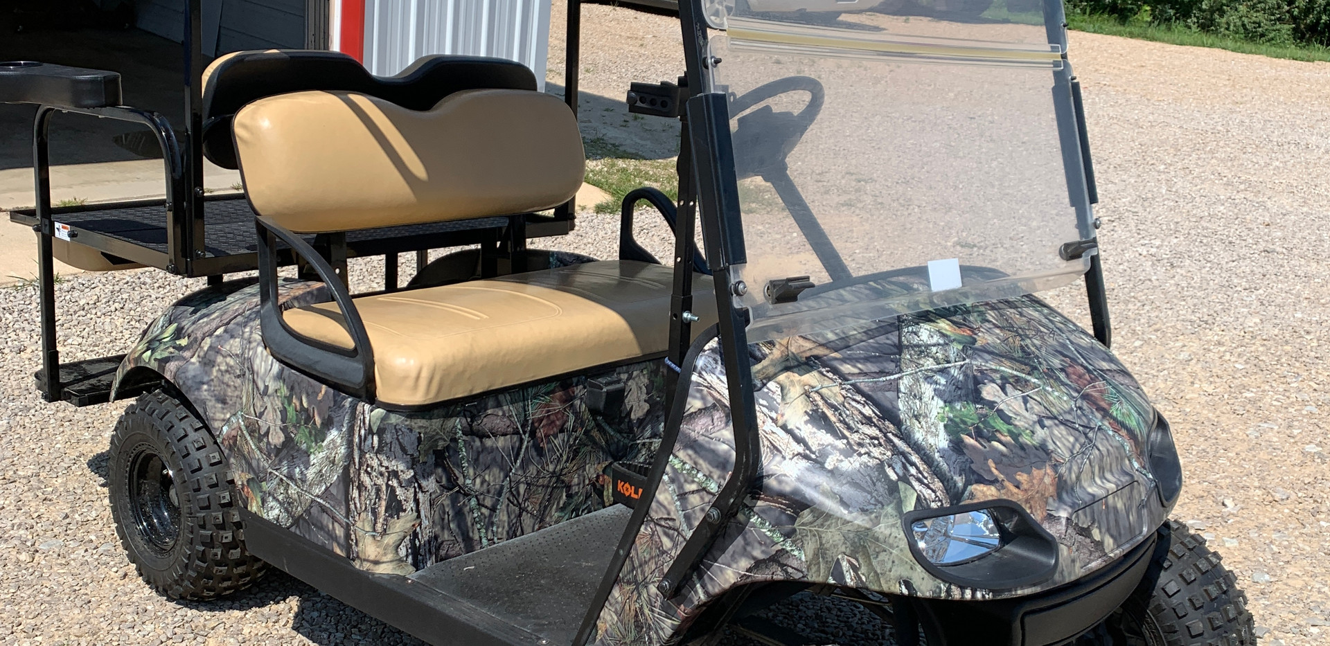 Camouflage Golf Cart Wrap