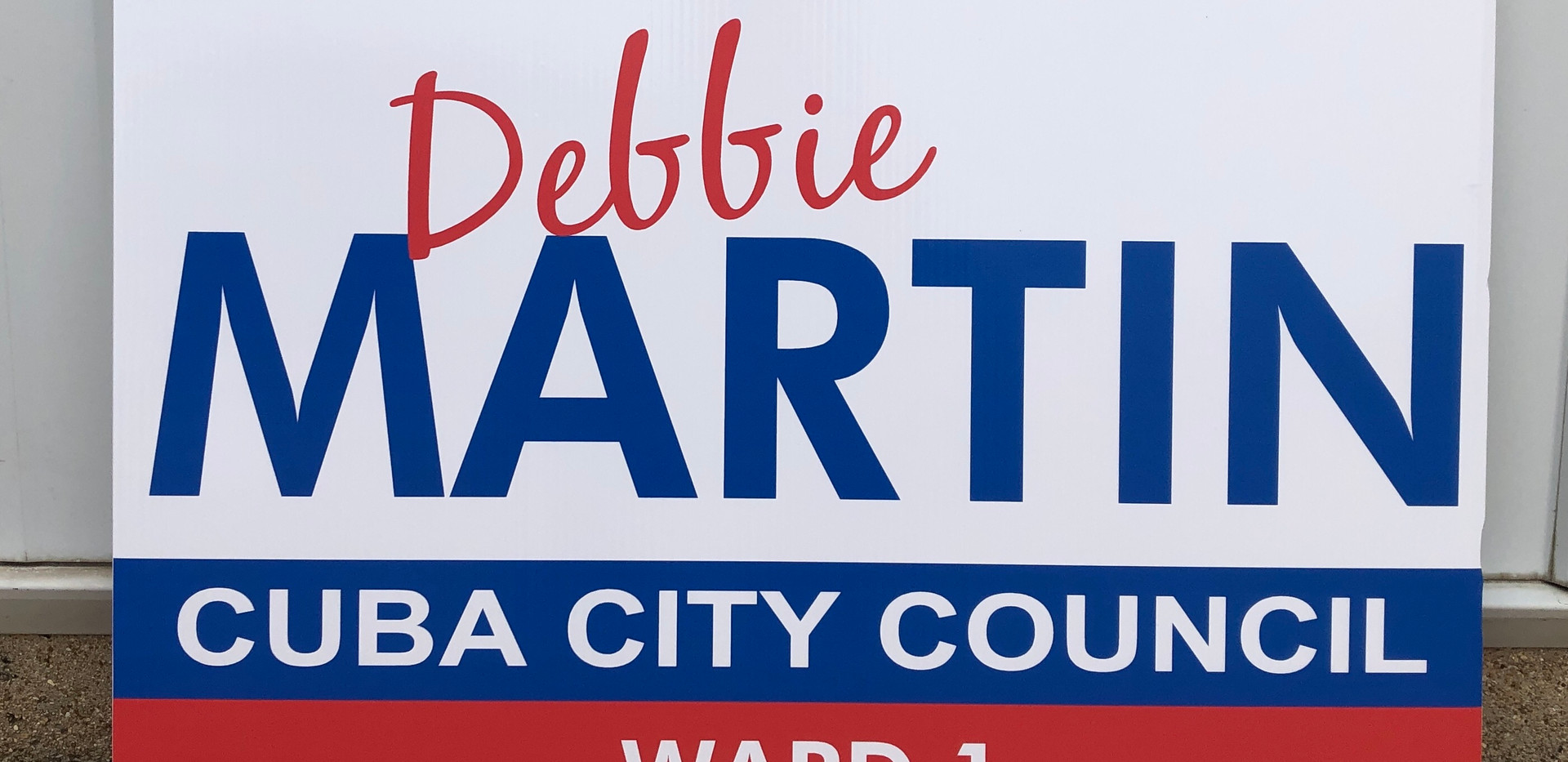 city council political sign