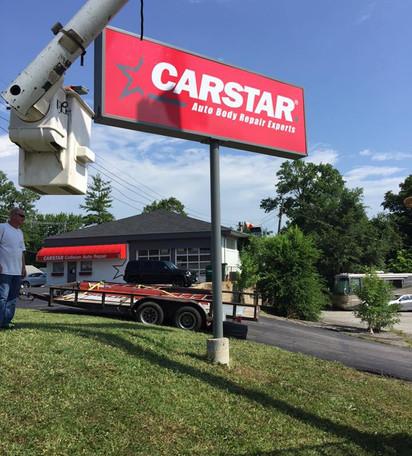 CARSTAR Pole Sign