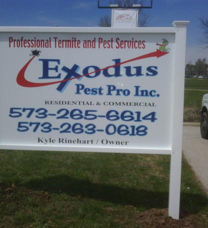 Exodus Pest Control Sign