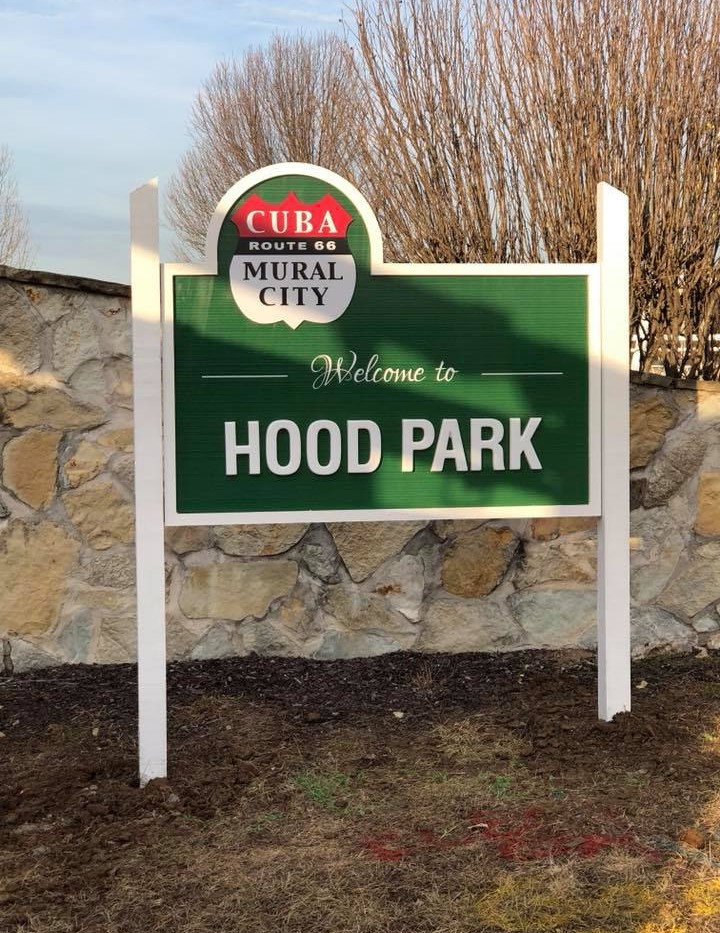 Hood Park Location Sign