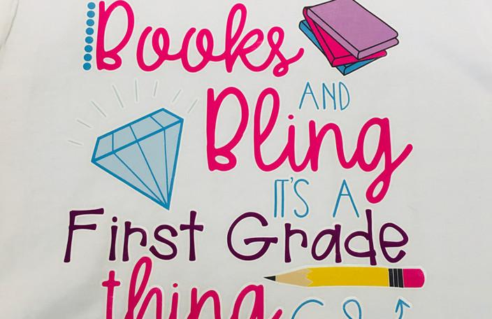 Books & Bling T-Shirts