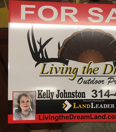 Living the Dream Yard Sign
