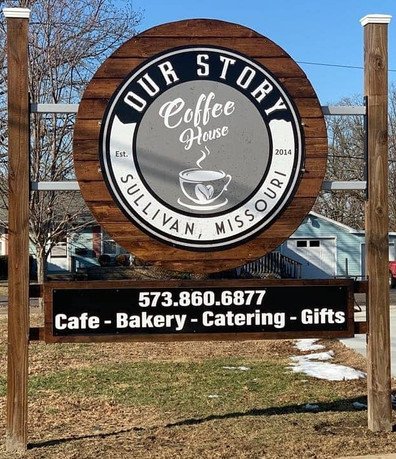 Our Story Cafe Custom Sign