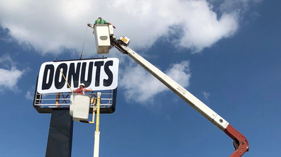 Donuts Sign Install