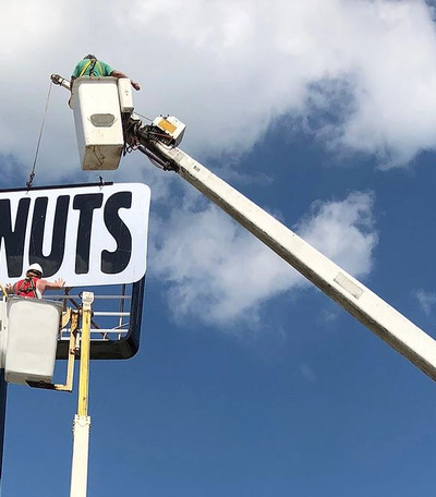 Donuts Lit Sign