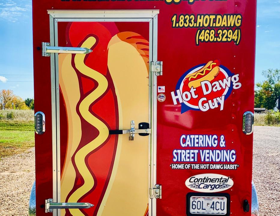 Hot Dawg Guy Trailer Wrap Rear