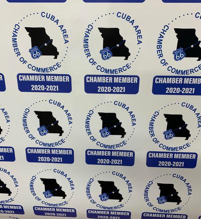 Cuba Chamber Static Clings