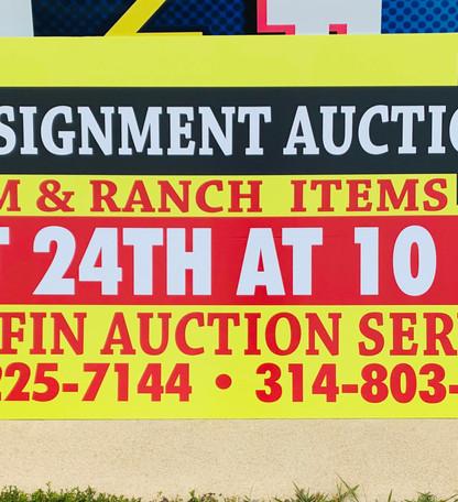Griffin Auction Service Panel Sign