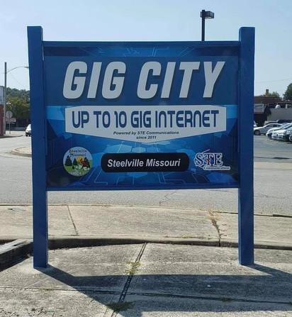 Steelville Internet Structure Sign