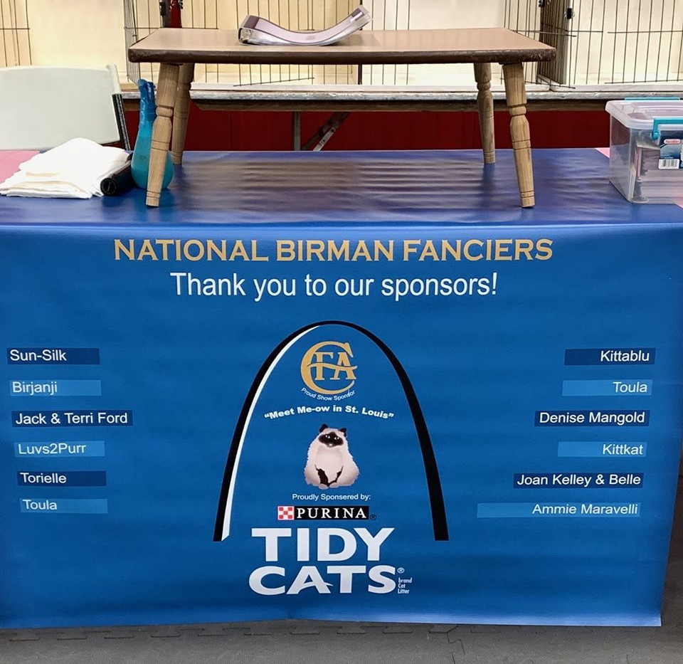 National Birman Table Cover