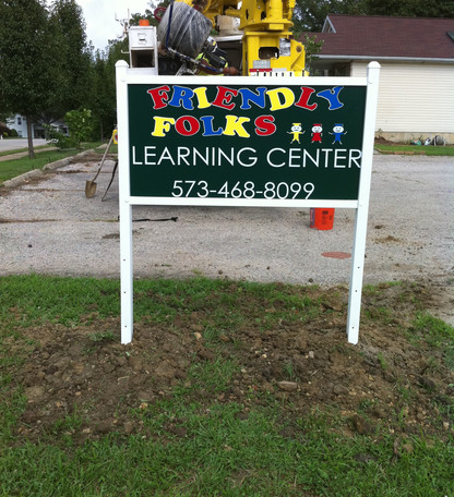 Daycare Post Sign