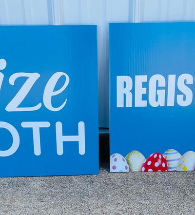 Easter Event Registration Signs