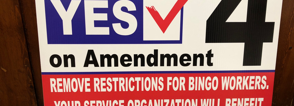 vote yes on amendment political sign