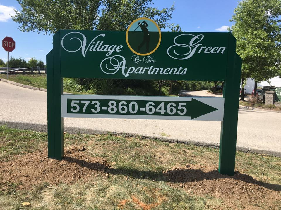 Village on the Green Entrance Sign