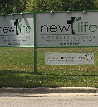 New Life Worship Center Sign