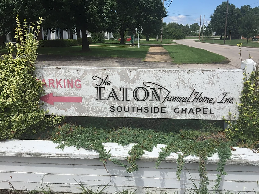 Eaton Sign Restration Before