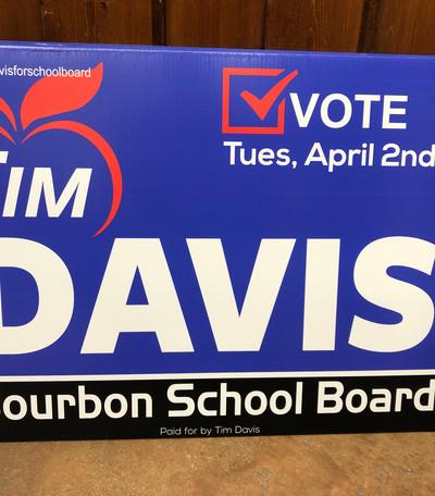 school board election sign