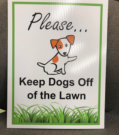 Dogs Off Lawn