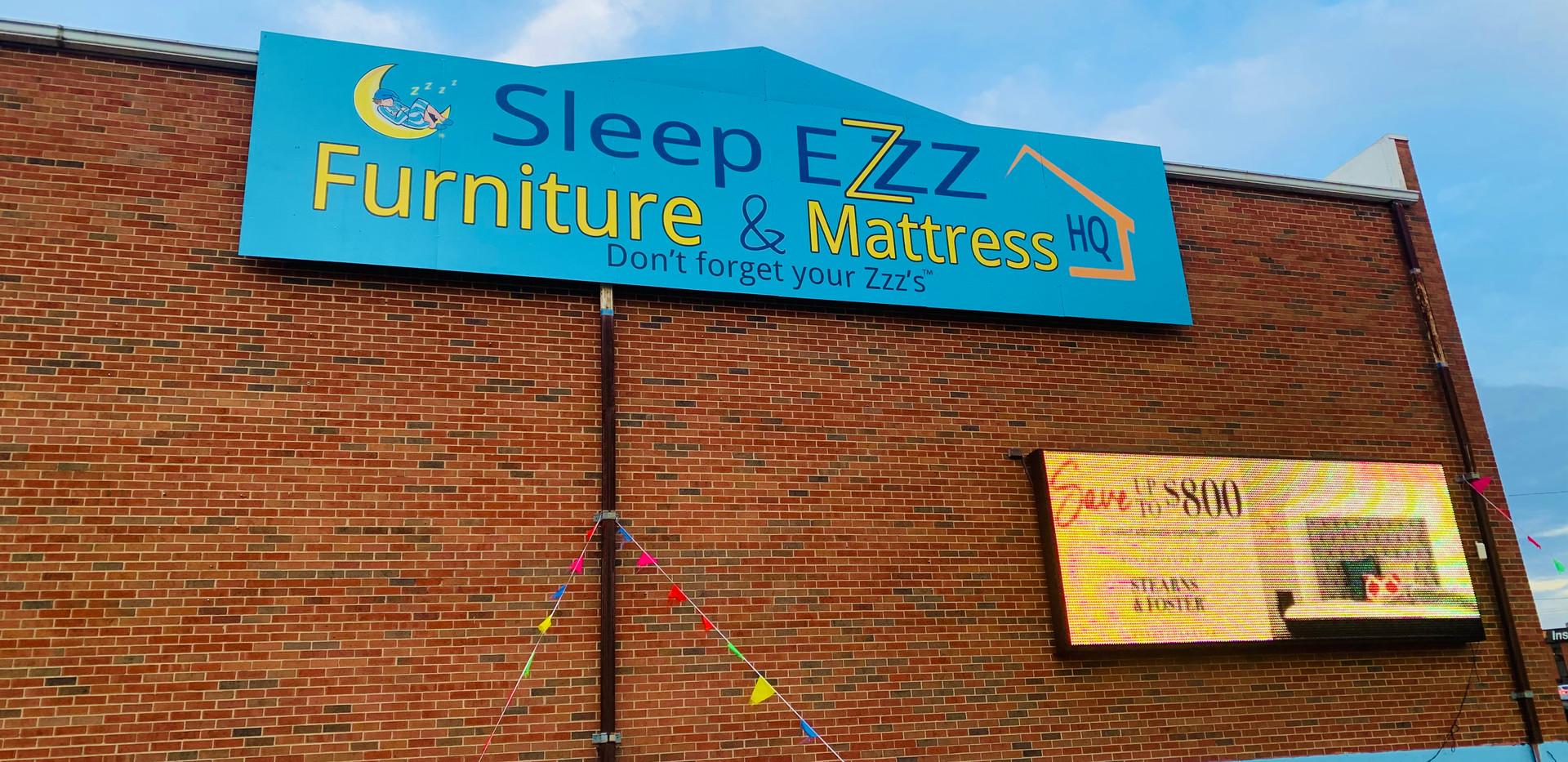 Sleep Ezzz Building Panel Sign