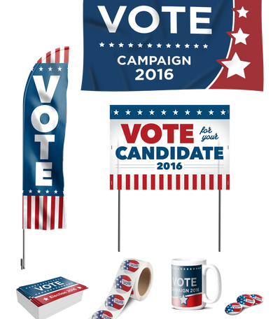 Political Campaign flags yard sign