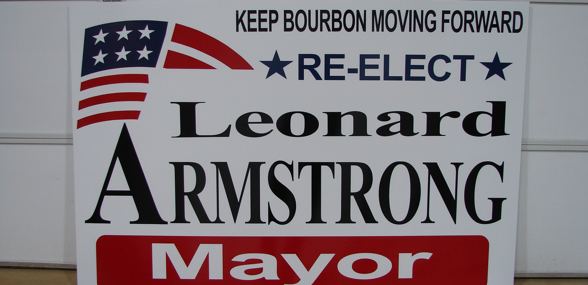 Armstrong Yard Sign